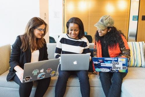 girls on laptops