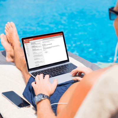 business owner working from anywhere
